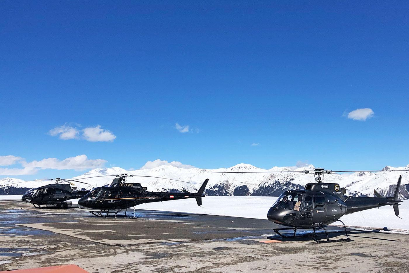 courchevel helicopter flight