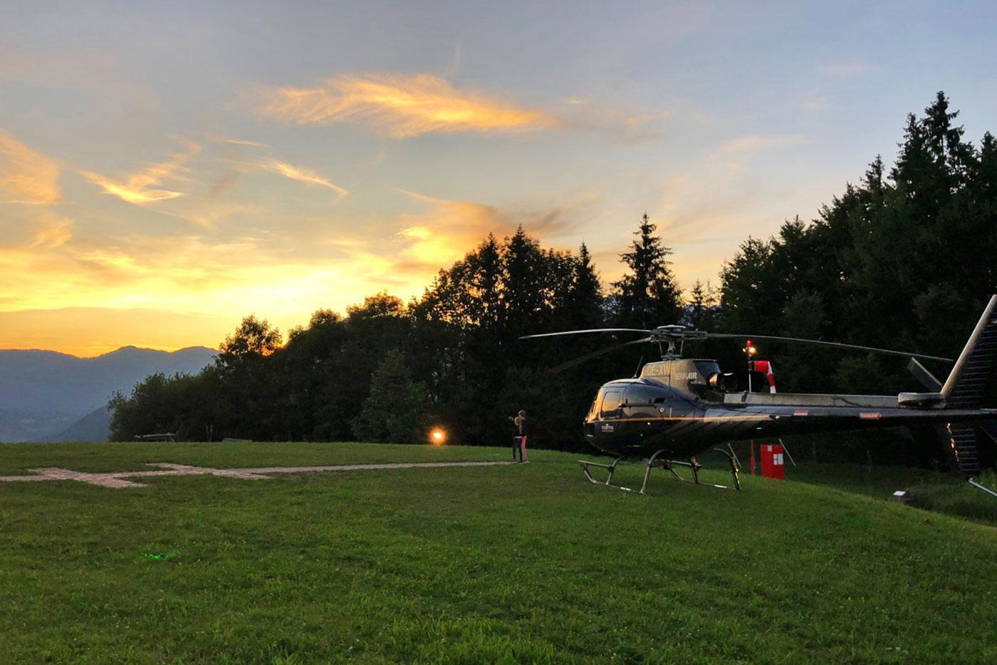 berchtesgaden helicopter sunset flight